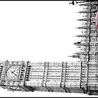 Big Ben and bus by Greg Parfitt