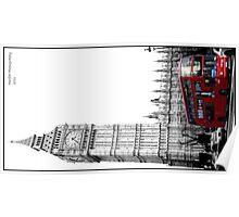 Big Ben and bus Poster
