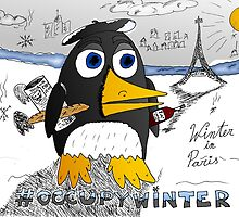 #occupywinter editorial cartoon by bubbleicious