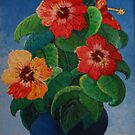 Hibiscus Flowers In A Vase by Kashmere1646