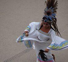 Aztec Dancer I - Bailarina Azteca by Bernhard Matejka
