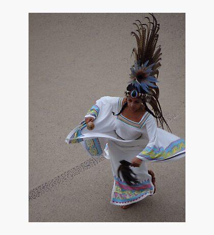 Aztec Dancer I - Bailarina Azteca Photographic Print