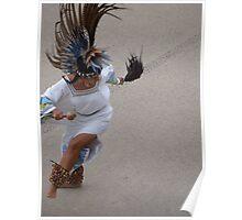 Aztec Dancer II - Bailarina Azteca Poster