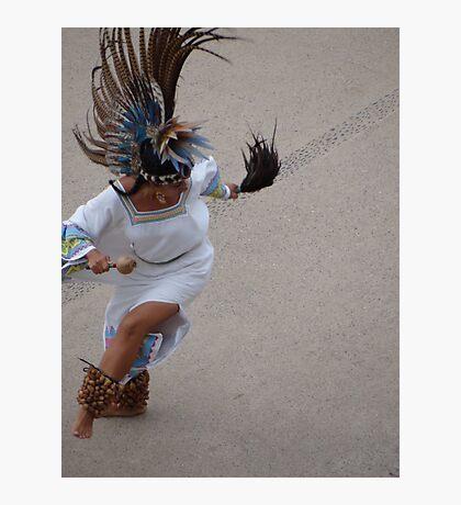 Aztec Dancer II - Bailarina Azteca Photographic Print