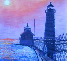 Lighthouse at Dusk by Kashmere1646