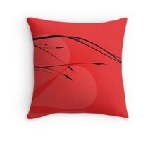 Japanese branch Throw Pillow