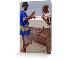 Fishermen At Work - Pescadores Trabajando Greeting Card