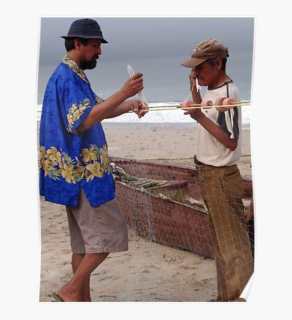 Fishermen At Work - Pescadores Trabajando Poster