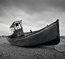 Black and White Dungeness Boat by rjlaker