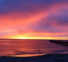 Port Noarlunga @ sunset by Ali Brown