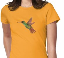Rufous-tailed hummingbird in flight Womens Fitted T-Shirt