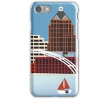 Rochester, New York - Skyline Illustration by Loose Petals iPhone Case/Skin