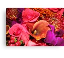 Floral Vibrance   Canvas Print