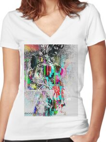 Painted Lady 2.0 Women's Fitted V-Neck T-Shirt