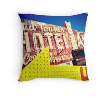 Neon Mid Towner Throw Pillow