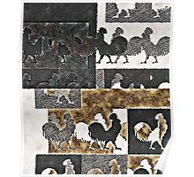 Rooster Vintage Poster