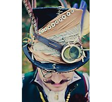 Steampunk Mad Hatter Photographic Print