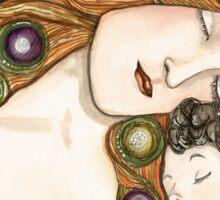 'Mother and child' my version of Klimt Sticker