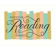 Reading in Progress Art Print