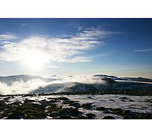 Winter sun over Ben Macdui, Cairngorm & Monadhliath Photographic Print