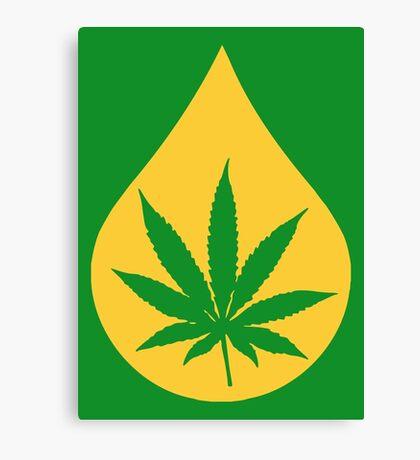 Dab Droplet Weed Leaf Canvas Print