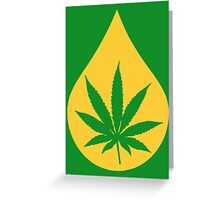 Dab Droplet Weed Leaf Greeting Card