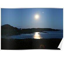 Moon rising over Crookhaven Poster