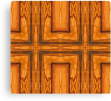 Pattern style wood Canvas Print