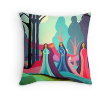 Ladies of the Moon Throw Pillow