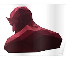 daredevil low poly Poster