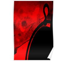 Curves on red Poster