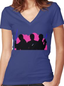 Cosmos' Angels Women's Fitted V-Neck T-Shirt