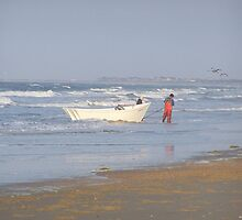 beach dory fishing at cape hatteras by tamarama