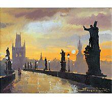 Prague Charles Bridge 01 Photographic Print