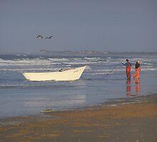 reflections on beach fishing hatteras-style by tamarama