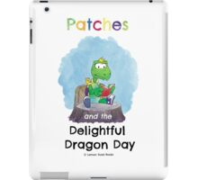 Patches turtle reading iPad Case/Skin