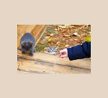 Two homeless kitten playing with a stick Unisex T-Shirt