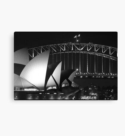 Sydney Harbour Bridge and Opera House Close up Canvas Print