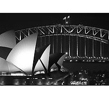 Sydney Harbour Bridge and Opera House Close up Photographic Print