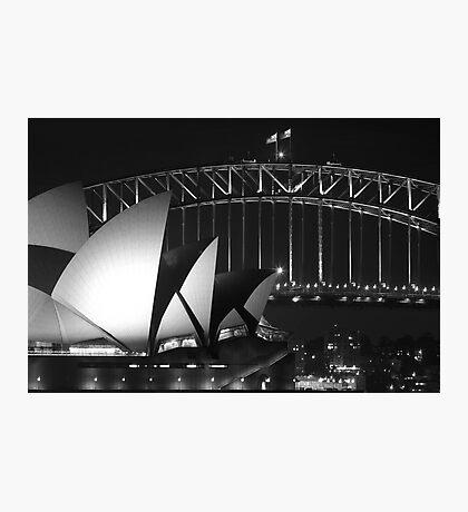 Sydney Harbour Bridge and Opera House Close up Photographic Print