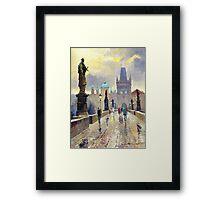 Prague Charles Bridge 02 Framed Print