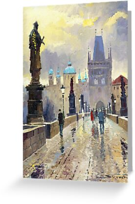 Prague Charles Bridge 02 by Yuriy Shevchuk