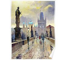 Prague Charles Bridge 02 Poster