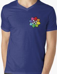 Rainbow Badge Mens V-Neck T-Shirt
