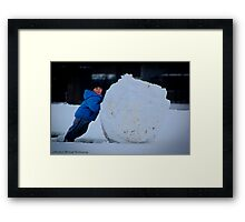 Snow Ball Framed Print