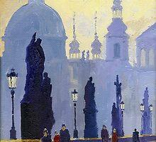 Prague Charles Bridge 03 by Yuriy Shevchuk