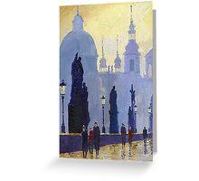 Prague Charles Bridge 03 Greeting Card