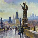 Prague Charles Bridge 04 by Yuriy Shevchuk