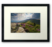 Roan Mountain From Appalachian Trail Near Jane's Bald Framed Print