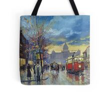 Prague Vaclav Square Old Tram Imitation by Cortez Tote Bag